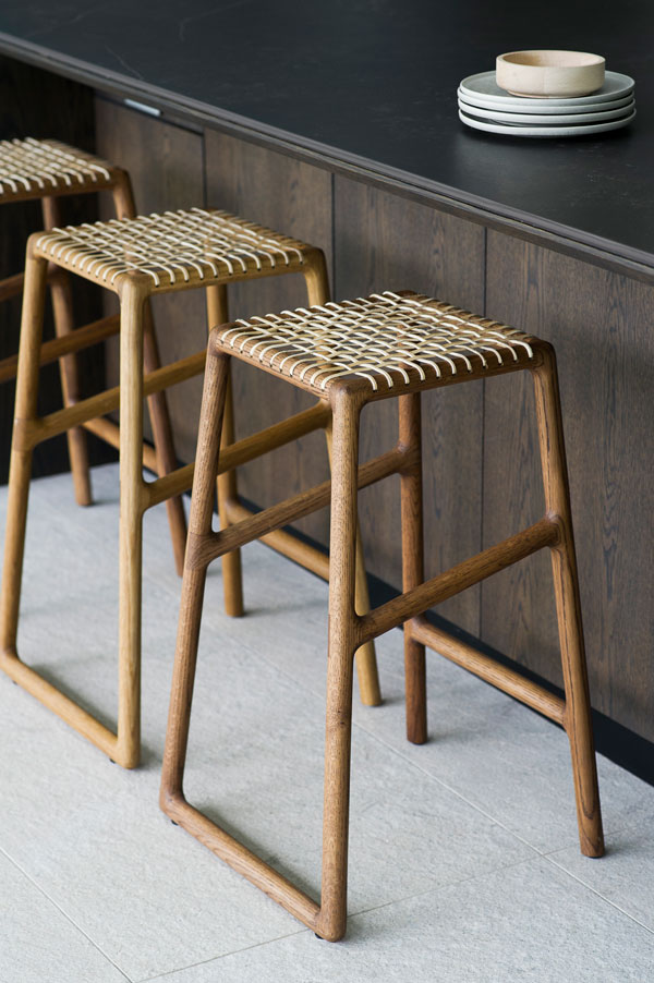 EKTA Oslo Bar Stools, Danish Style, Hand Crafted Excellence