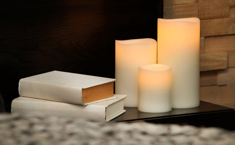 Enjoy Lighting Flameless Real Wax Candles