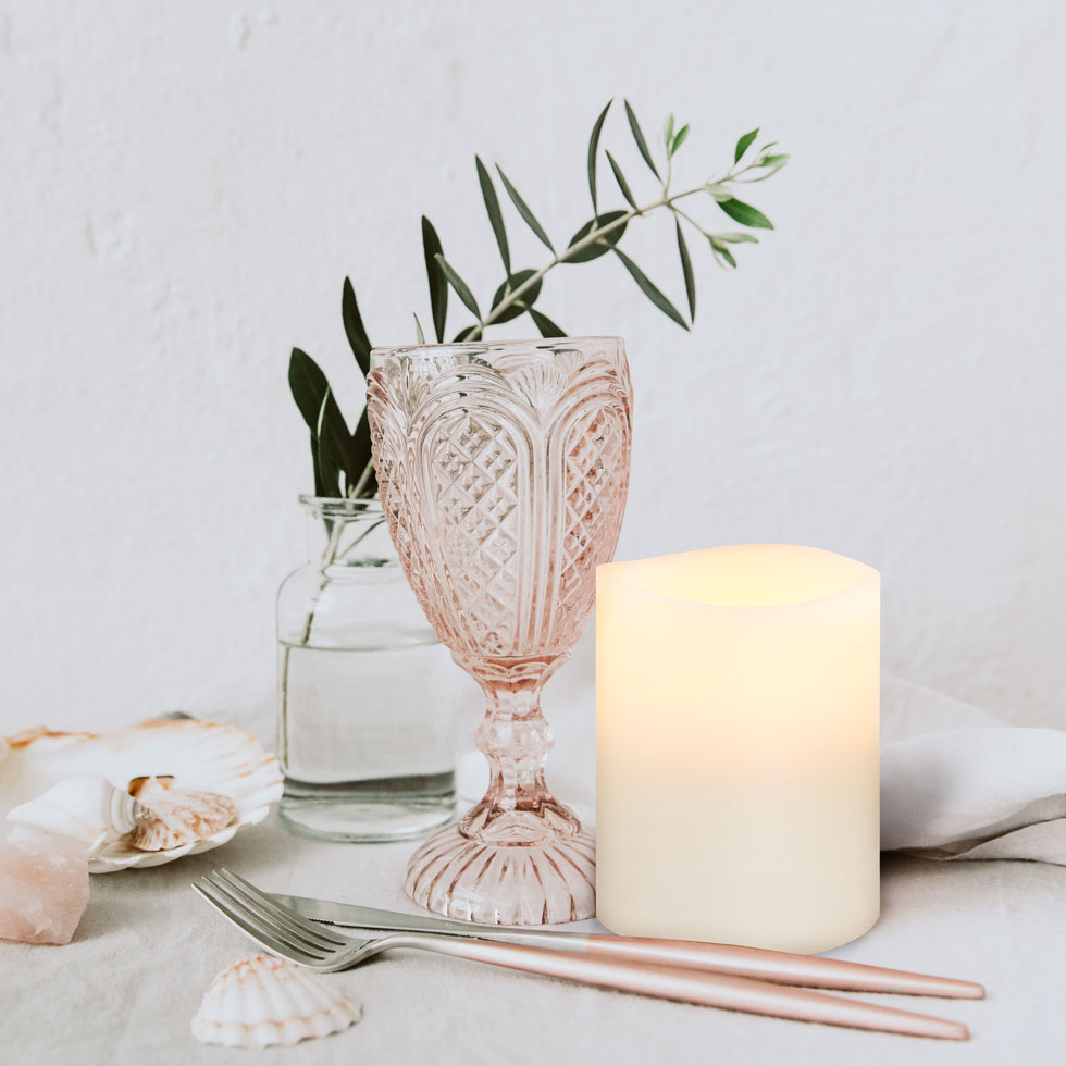 Enjoy-Living-Flameless LED Candle Nordic White