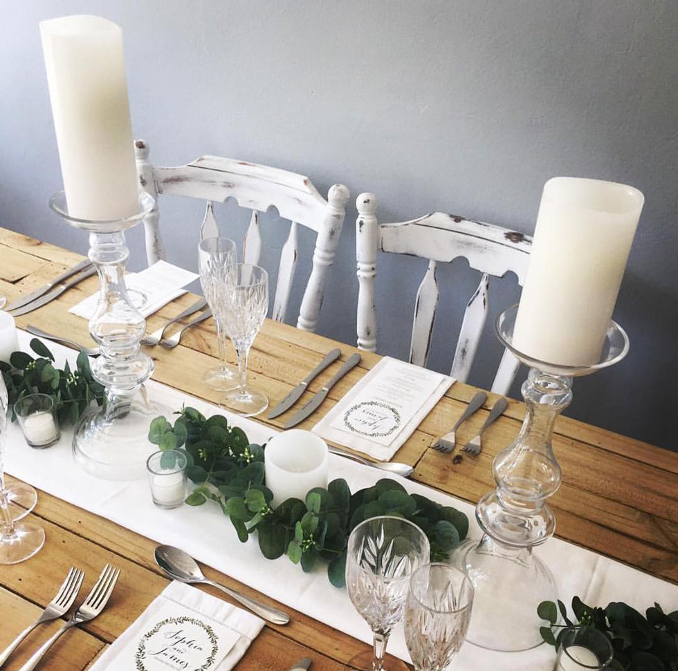 Enjoy Platinum Table Setting