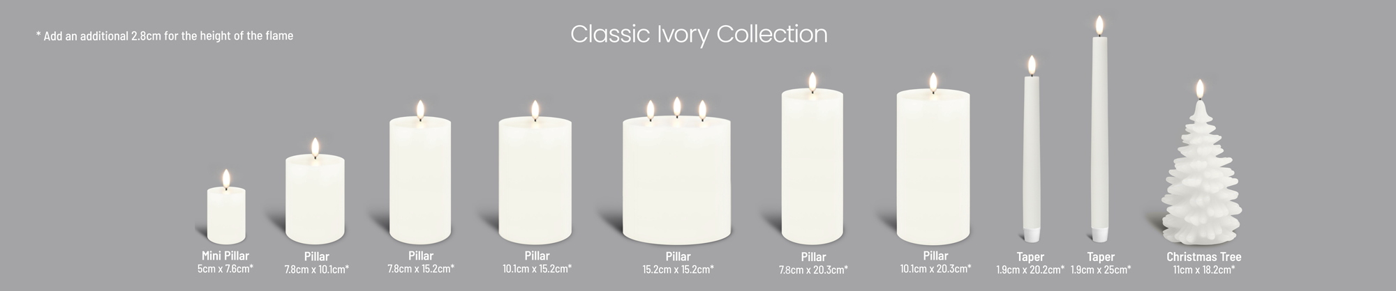 Uyuni Flameless Candle Collection Ivory