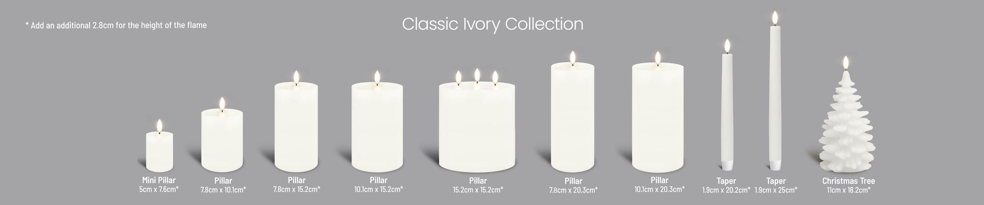 Uyuni Flameless Candle Collection Ivory