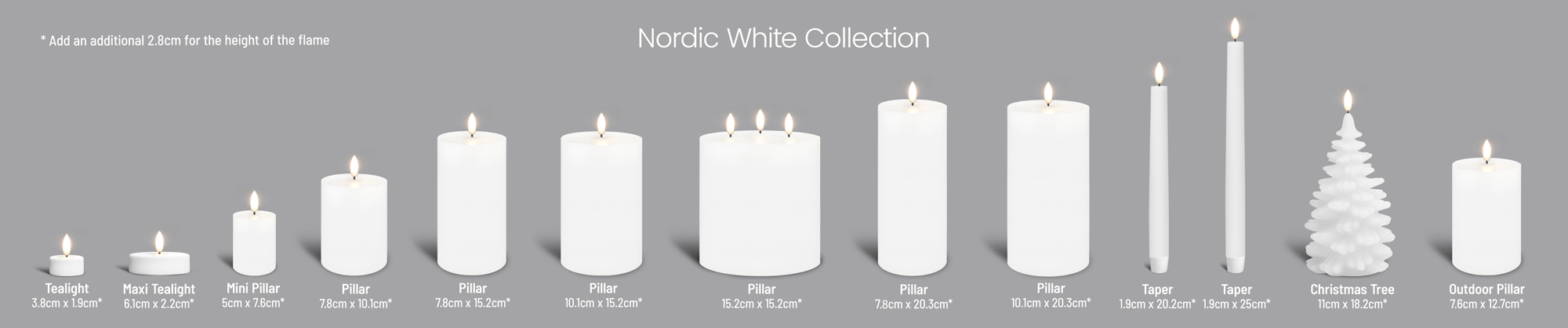 Uyuni Flameless Candle Collection White