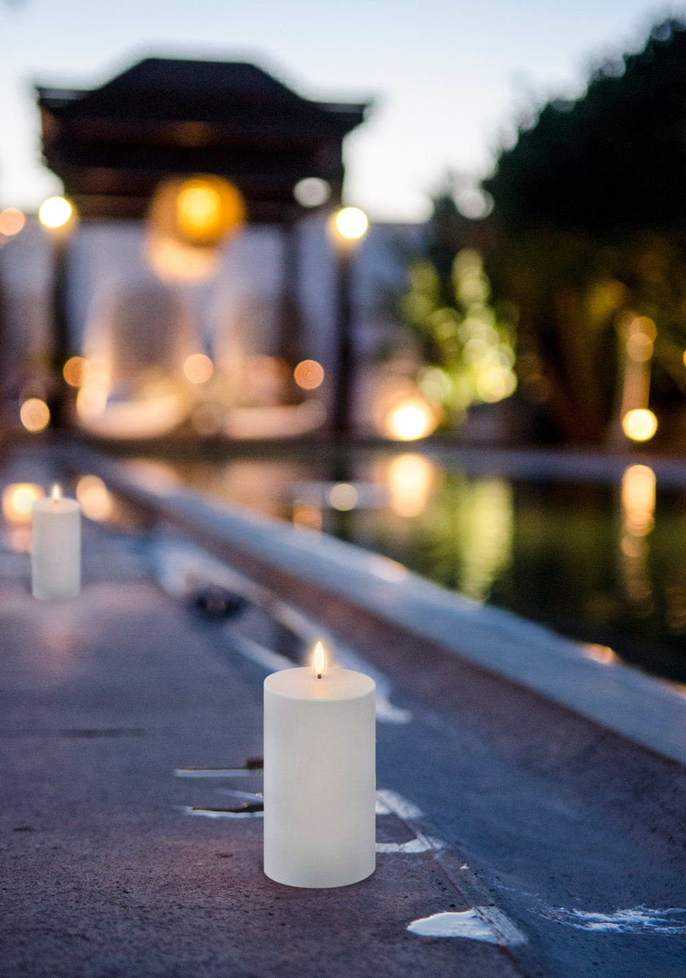 Outdoor Flameless Candles Remote Enabled
